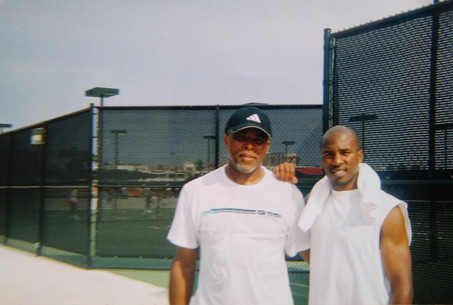 Son, Andre' and I - Tennis Match