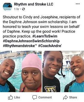 2019 Daphne Johnson Swim Scholarship rec