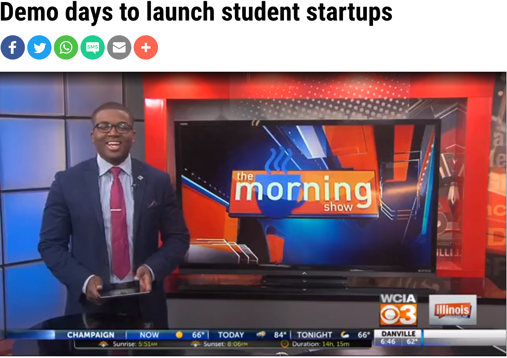 TV: Demo days to launch student star