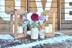 Lantern & Mason Jar Centerpiece