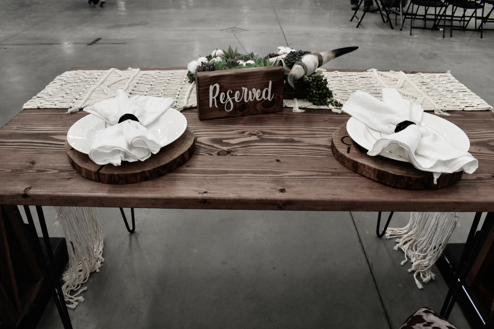 Hairpin Farmhouse Table =$45