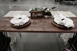 Hairpin Farmhouse Table =$45