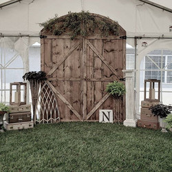 Curved Barn Door Backdrop = $185