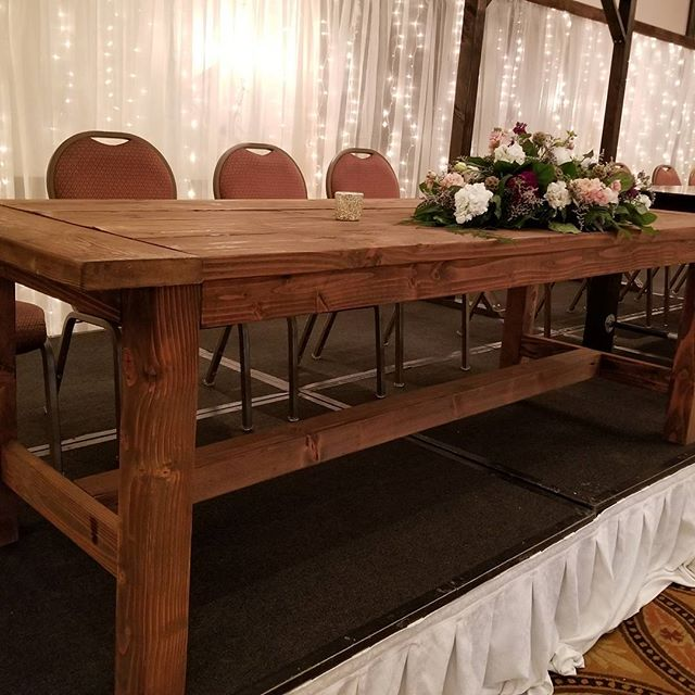 Farmhouse Table - Eight Foot = $55
