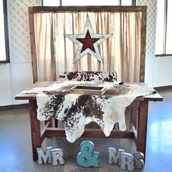 Five Foot Sweetheart Table = $45