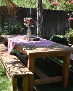 Farmhouse Table $55 & Farmhouse Bench = $25