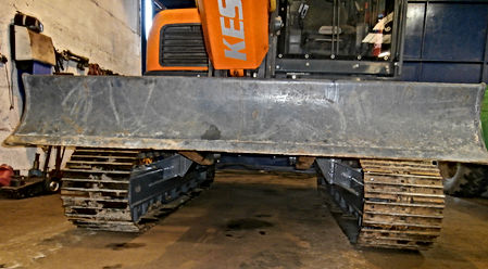 forestry conversion, tracked excavator, timber harvester, stroke harvesting head, zero tailswing