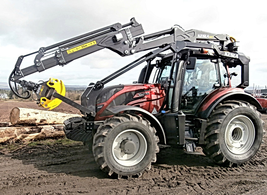 Kesla, forestry guarding, guarding for tractors, tractor guarding, full forestry guarding, roof mounted loaders, caledonian forestry, conversions, forest machine,