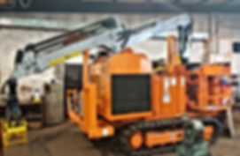 Chipper conversion, bandit, Kesla, Kesla loader for feeding chipper, biomass chipper, renewables