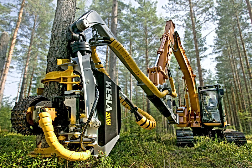 kesla, caledonian forestry, forestry machinery, Harvesting head, forestry conversions, kesla roller head, timber loader, forestry engineer, kesla uk,