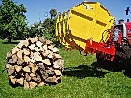 Rabaud log bundler, log bundling machine