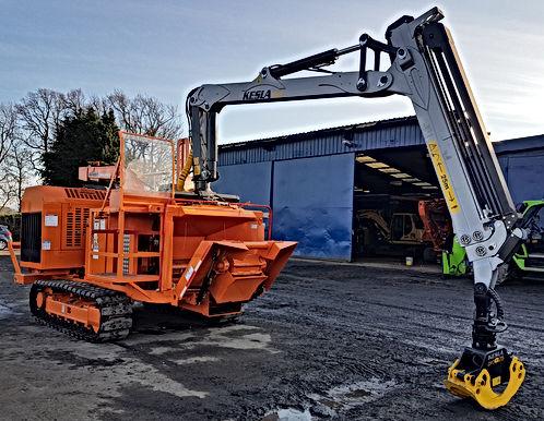 Kesla, forestry crane, Kesla 304T loader, bandit chipper, Kesla forest machine crane, double extension loader, kesla ProG grab,