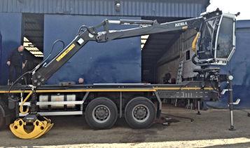 Kesla, kesla truck crane, timber trucks, timber trucks uk, truck cranes, forestry conversions, official kesla dealers uk, caledonian forestry