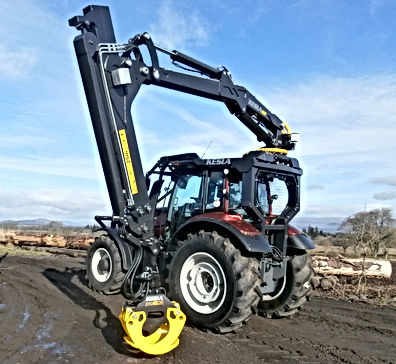 Kesla, forestry guarding, guarding for tractors, tractor guarding, full forestry guarding, roof mounted loaders, caledonian forestry, conversions, forest machine