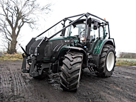 forestry tractor, forestry guarding, full forestry guarding, guarding for mulching, tractor guarding, forestry mulching tractor with guarding, caledonian forestry,