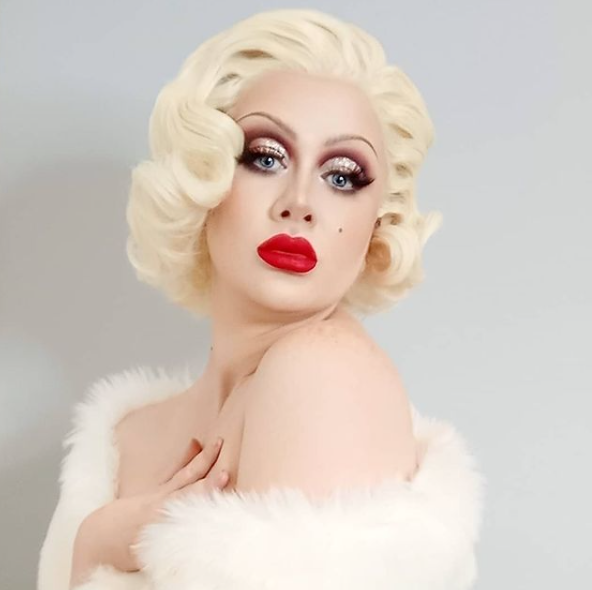 Full curl set and hollywood styling on synthetic wig