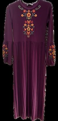 Aysh Pleated Maxi Dress