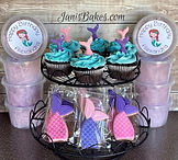 Mermaid Cupcakes, Cookies and Cotton Can