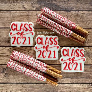 Class of 2021 Cookies with Pretzels