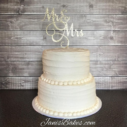 Wedding Cake with Mr & Mrs Topper