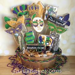 Mardi Gras Cookie Bouquet