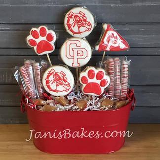 CPHS Cookie Bouquet with pretzels