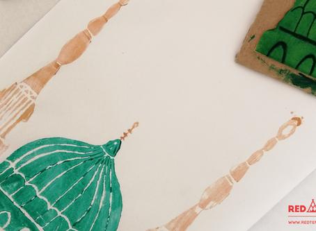 The Prophet's Mosque Stamp Craft