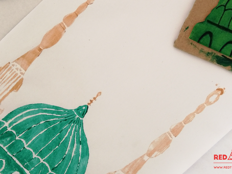 The Prophet's Mosque Stamp Craft