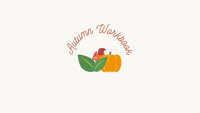 Autumn Workbook Printable Banner - Red T