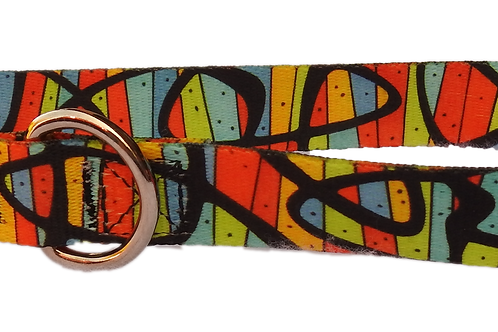 "Stained Glass 1"" Dog Collar"