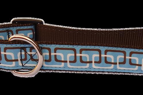 "Blue Links 1"" Dog Collar"