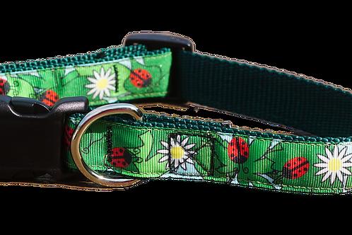 "Ladybug Garden 1"" Dog Collar"