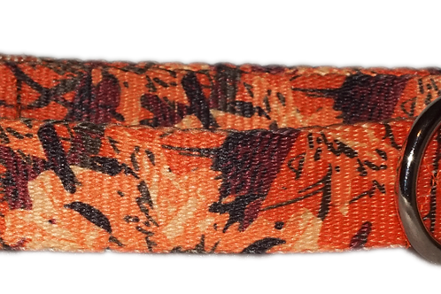 "Autumn Leaves 1"" Dog Collar"