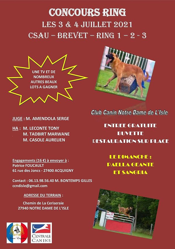 CONCOURS ANNUEL ND L'ISLE