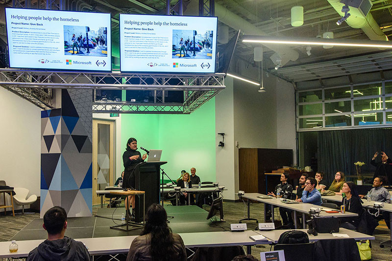 Mellany presents her fellowship project at Microsoft Reactor