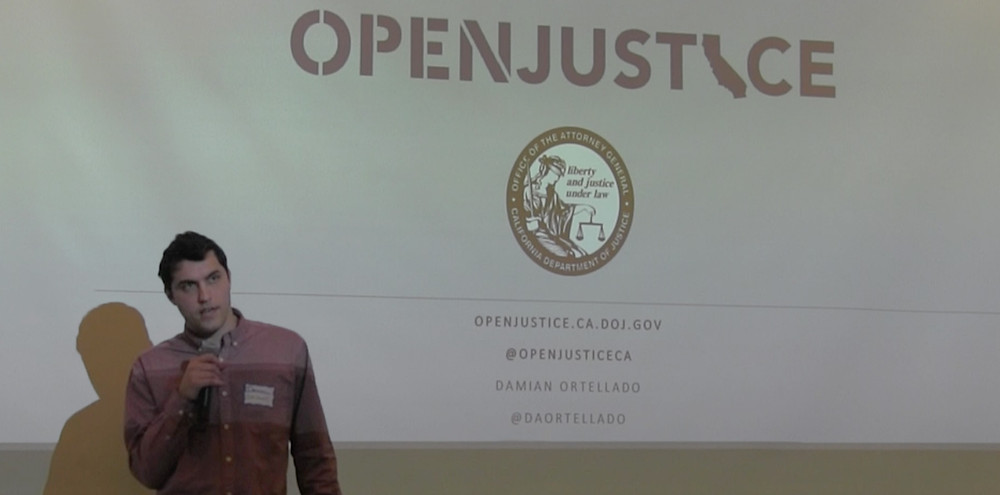Damian presents the Open Justice project