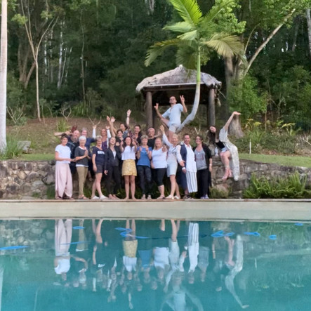 Group shot of attendees at a Yoga 4 You Yoga Retreat