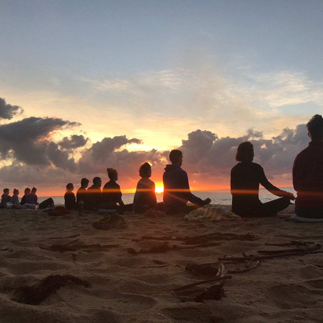 Group Sun Salute Photo at the Balanced You Yoga Retreat