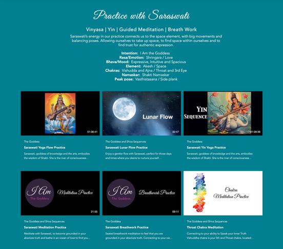 Practices with goddess Saraswati