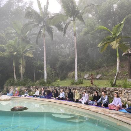 poolside photo at a Yoga 4 You Yoga Retreat