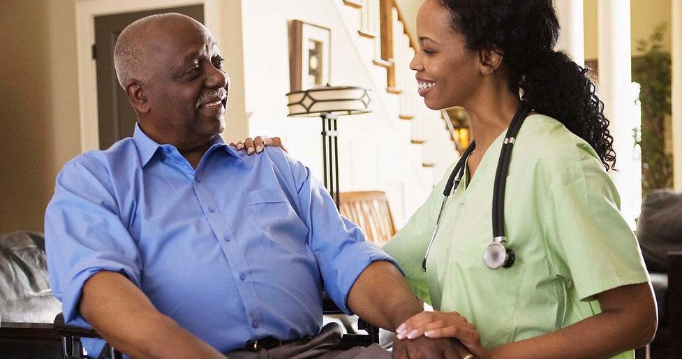 Patient with caregiver