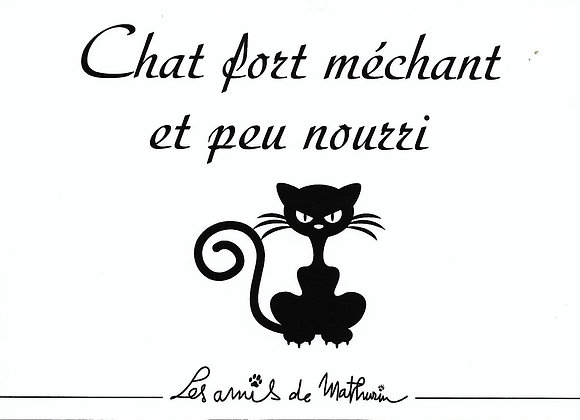 Chat fort méchant ....