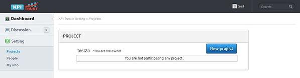 KPIアプリ 新規プロジェクト
