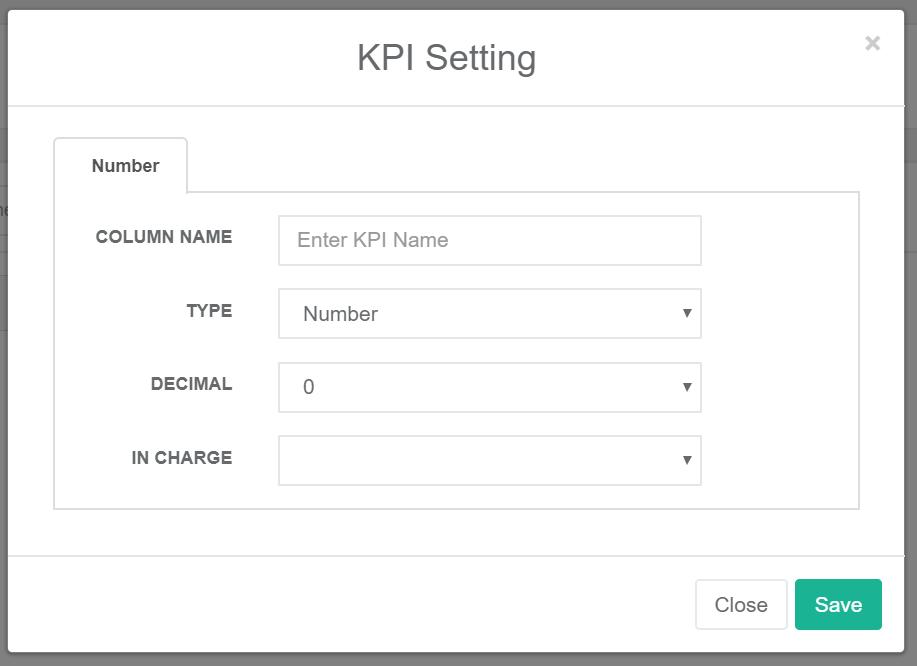 KPIアプリ KPI設定
