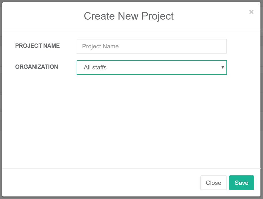 KPIアプリ 新規プロジェクト作成