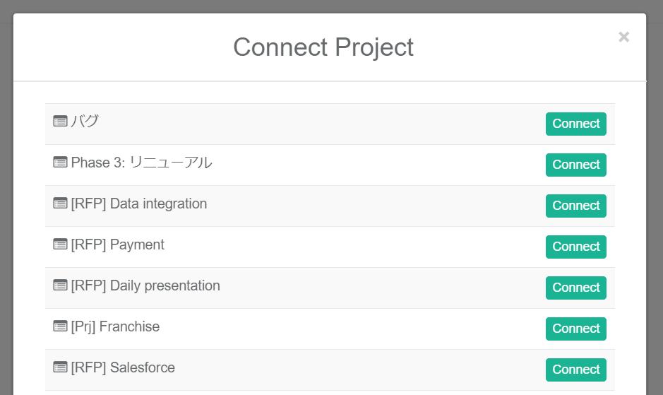 KPI Appプロジェクトリスト