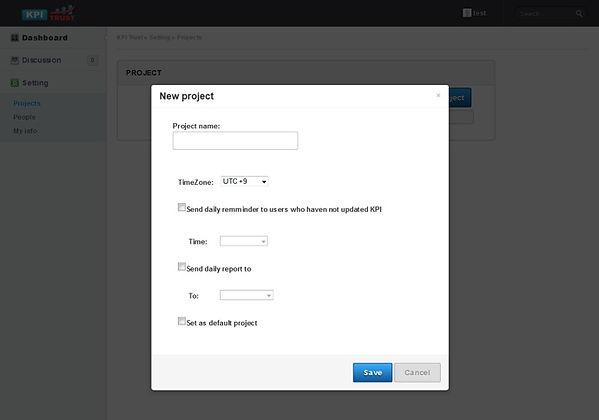 KPIアプリ プロジェクト詳細