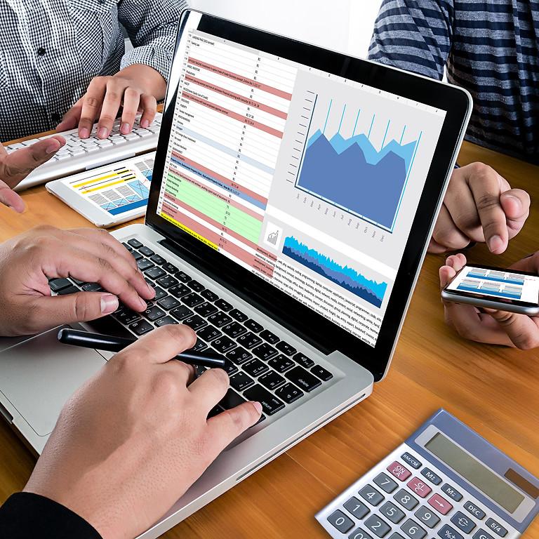 Curso virtual de Excel Tablas Dinámicas y Creación Dashboards.  Fechas: 2, 9 y 16 de abril de 2021. Horario: 6 a 9 pm