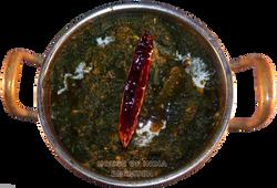 chicken, saagwala