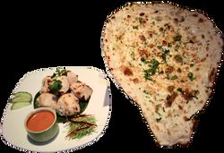 Murgh Malai Kabab with Naan